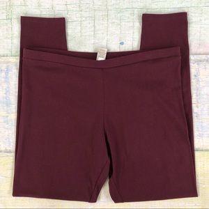 LC Lauren Conrad Mid Rose Leggings Purple XL NWT